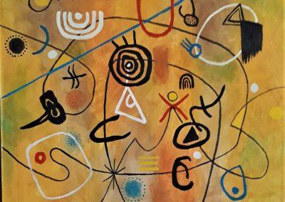 Rock Art Symbols a la Miro 700